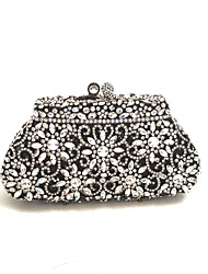 cheap -Women's Bags Glasses / Metal Evening Bag Crystals for Wedding / Event / Party Black