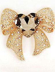 cheap -Women's Girls' Brooches Bow Crystal Alloy Bowknot Jewelry For Wedding Party Special Occasion Casual