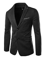 Men's Office/Career Business Formal Winter Suit,Solid V Neck Long Sleeve Regular Cotton