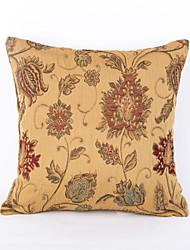 Chenille  jacquard Pillow Case- Yellow