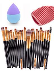 20pcs Eye Brush Gold Black &Small Liquid Latex Water Droplet Puff &Makeup Brush Eggs