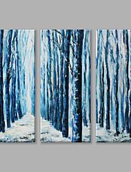Dipinta a mano Paesaggi astrattiArtistico Modern Tre Pannelli Tela Hang-Dipinto ad olio For Decorazioni per la casa