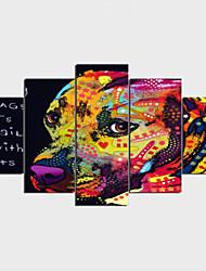 Impression sur Toile Inspiré de la nature Décoration artistique/Rétro Classique & Intemporel,Cinq Panneaux Format Horizontal Imprimé