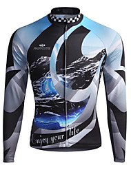 cheap -Fastcute Cycling Jersey Men's Women's Kid's Unisex Long Sleeves Bike Sweatshirt Jersey Top Bike Wear Quick Dry Front Zipper Breathable
