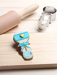 cheap -Baby Bell Rattle Ring Cookies Cutter Stainless Steel Biscuit Cake Mold Metal Kitchen Fondant Baking Tools