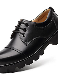 Men's Oxfords Fall Winter Formal Shoes Cowhide Outdoor Office & Career Party & Evening Casual Work & Safety Coffee Black