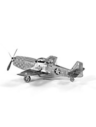 cheap -3D Puzzles Model Building Kit Plane / Aircraft Fun Stainless Steel Classic