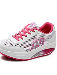 Feminino Tênis Conforto Solados com Luzes Tule Primavera Verão Outono Ar-Livre Casual Para Esporte Caminhada Cadarço AnabelaRoxo Fúcsia