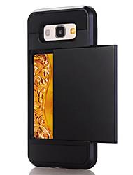 Недорогие -Кейс для Назначение SSamsung Galaxy A5(2017) A3(2017) Бумажник для карт Кейс на заднюю панель Сплошной цвет Твердый ПК для A3 (2017) A5