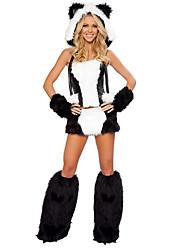 economico -Costumi Cosplay Vestito da Serata Elegante Fantasia animale Feste/vacanze Costumi Halloween Collage Top Gonna Guanti GinocchiereHalloween