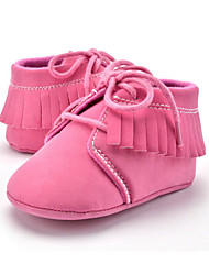 cheap -Children's Baby Shoes Microfibre Summer Fall First Walkers Loafers & Slip-Ons Tassel Lace-up for Casual Party & Evening Dress Pink Khaki
