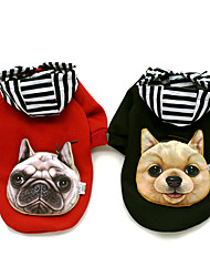 preiswerte -Hund Mäntel Kapuzenshirts Hundekleidung Urlaub Lässig/Alltäglich Sport Modisch Tier Schwarz Rot Kostüm Für Haustiere