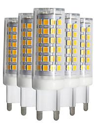 cheap -YWXLight® Dimmable 5pcs G9 9W 88LED 2835SMD 750-850 Lm Warm White/Cool White/Natural White LED Ceramics Lamp AC 220-240V