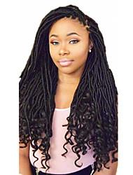 Недорогие -Волосы для кос Кудрявый дредлоки / Дреды / Faux Locs Искусственные волосы 1шт / уп, 24 корня / пакет косы волос Омбре Средние Коса с омбре / Расширения Dreadlock / Искусственные дреды