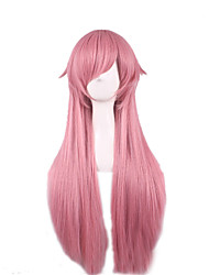 cheap -Cospoay Wig Future Diary My Wife by High Temperature Silk Smoke Pink Straight Straight Hair Wool 28inch