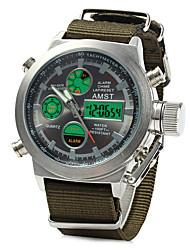 Недорогие -Муж. Спортивные часы Армейские часы электронные часы Японский Кварцевый Цифровой Будильник Календарь Защита от влаги С двумя часовыми