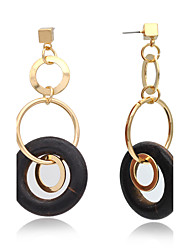 cheap -Drop Earrings Hoop Earrings Earrings Fashion Copper Chrome 24K Plated Gold Circle Jewelry ForWedding Party Special Occasion Halloween