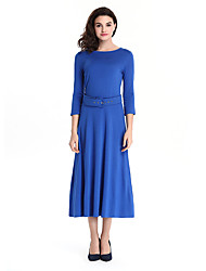 Womens Elegant Vintage Summer  Belted Tunic Pinup Wear To Work Office Casual Party A Line  Dress