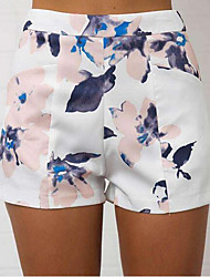 Women's High Rise Micro-elastic Chinos Pants,Simple Slim Mixed Color Print