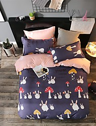 Duvet Cover Sets Animals 4 Piece Poly/Cotton Reactive Print Poly/Cotton (If Twin size, only 1 Sham or Pillowcase)