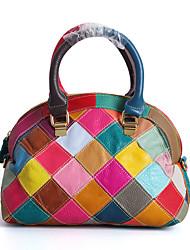 cheap -Women's Women Bags Spring Cowhide for Casual Black Rainbow