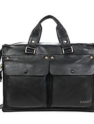 Men Bags All Seasons Cowhide Tote Smooth for Business Casual Formal Work Office & Career School Date Black