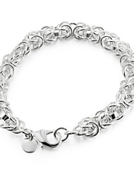 cheap -Sweet 20cm Women's Silver Copper Chain & Link Bracelet(Silver)(1 Pc) Jewelry Christmas Gifts