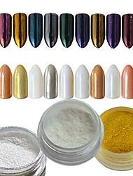 0.2g/bottle Nail Art Salon DIY Gorgeous Glitter Powder Decoration Magic Mirror Effect Powder Pigment For Nail Beauty