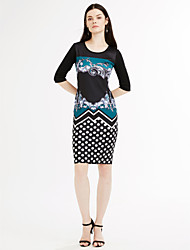 Women's Plus Size / Going out Casual / Street chic A Line Dress