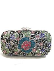 Недорогие -жен. Мешки стекло Металл Вечерняя сумочка Кристаллы для Для праздника / вечеринки Все сезоны Синий