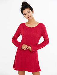 cheap -Women's Daily / Going out Street chic Sheath Dress - Solid Colored / Spring / Fall