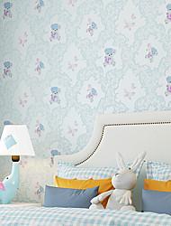 cheap -Contemporary Wallpaper Art Deco Cute Cartoon Self Adhesive Wallpaper Wall Covering Non-woven Fabric Wall Art
