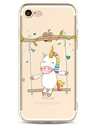 Per la mela iphone 7 7 più 6s 6 copertina di caso copertina cartone animato dipinto ad alta penetrazione tpu materiale morbido caso