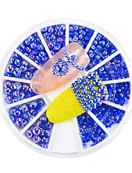 cheap -1pcs New Nail Art 3D Flatback Pearls Decoration Mixed 1.5/2/2.5/4mm Dark Blue AB Crystal Pearl Gorgeous Accessories Nail Art DIY Beauty
