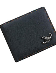 cheap -Men's Bags Cowhide Wallet Smooth for All Seasons Black