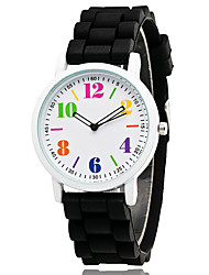 Women's Fashion Watch Chinese Quartz Silicone Band Casual Elegant Black White Blue Green Pink