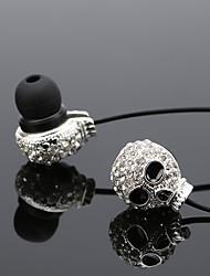 economico -Cassa del metallo del cranio del diamante femminile del tipo subwoofer della cuffia avricolare del telefono mobile