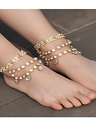 cheap -Women's Anklet/Bracelet Imitation Pearl Rhinestone Alloy Fashion Bowknot Jewelry For Daily Casual 1 pcs