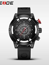 WEIDE Pánské Sportovní hodinky Hodinky k šatům Módní hodinky japonština Křemenný Voděodolné Silikon Kapela Cool Běžné nošení Černá