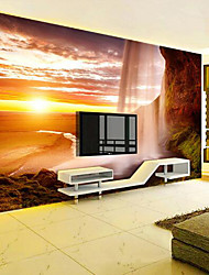 cheap -Print Scenery 3D Print Home Decoration Modern/Contemporary Wall Covering, Canvas Material Adhesive required Mural, Room Wallcovering