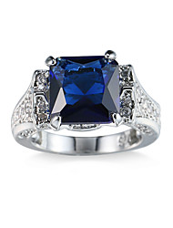 cheap -Women's Cubic Zirconia Zircon / Alloy Others Ring - Unique Design / Euramerican / Fashion Blue Ring For Party / Anniversary / Birthday