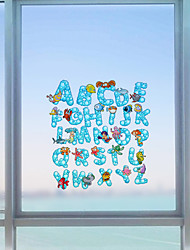 cheap -Window Film Window Decals Style Cartoon Letter PVC Window Film - (60 x 58)cm