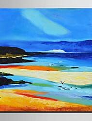 abordables -Peinture à l'huile Hang-peint Peint à la main - Paysage Rétro Toile