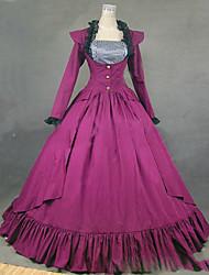 abordables -Medieval Victoriano Gótico Disfraz Mujer Vestidos Baile de Máscaras Ropa de Fiesta Cosecha Cosplay Other Algodón Manga Larga Casquillo