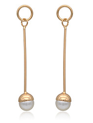 cheap -Drop Earrings Hoop Earrings Earrings Basic Fashion Imitation Pearl Copper Chrome 24K Plated Gold Jewelry ForWedding Party Special