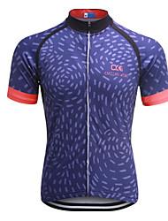 economico -Per uomo Manica corta Maglia da ciclismo Bicicletta Maglietta / Maglia, Asciugatura rapida, Design anatomico, Traspirante Poliestere,