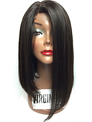 cheap -New Fashion Brazilian Virgin Hair Bob Wigs Straight Lace Front Human Hair Wigs Remy Virgin Hair Bob Wig for Woman