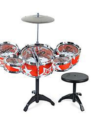 Недорогие -Барабанная установка Строительные инструменты Игрушечные инструменты Игрушки Ударная установка Барабанная установка Джазовый барабан