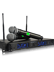 cheap -Professional double handheld wireless microphone For KTV stage meetings mic