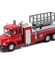 cheap -Fire Engine Vehicle Toy Truck Construction Vehicle Toy Car Die-Cast Vehicles Pull Back Vehicles Metal Alloy Unisex Kid's Toy Gift